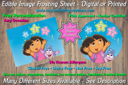Dora the Explorer Edible Image Frosting Sheet #16 Cake Cupcake Topper