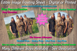 Duck Dynasty Edible Image Frosting Sheet #11 Cake Cupcake Topper