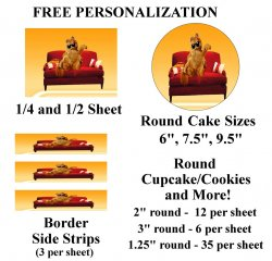 Garfield Edible Image Frosting Sheet #37 (different sizes)