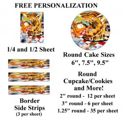 Garfield Edible Image Frosting Sheet #41 (different sizes)