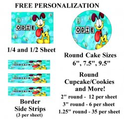 Garfield Edible Image Frosting Sheet #42 (different sizes)
