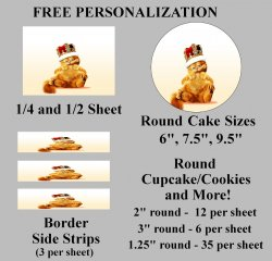 Garfield Edible Image Frosting Sheet #43 (different sizes)