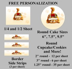 Garfield Edible Image Frosting Sheet #48 (different sizes)