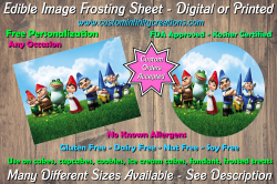 Gnomeo and Juliet Edible Image Frosting Sheet #3 Cake Cupcake Topper