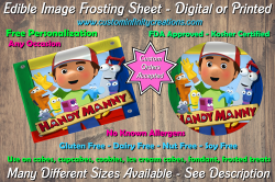 Handy Manny Edible Image Frosting Sheet #15 Cake Cupcake Topper