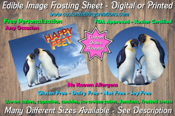 Happy Feet Edible Image Frosting Sheet #4 Cake Cupcake Topper