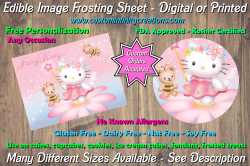 Hello Kitty Edible Image Frosting Sheet #3 Cake Cupcake Topper