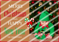 Christmas Personalized Photo Greeting Card #1 (digital file you print)