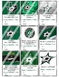 '.Dallas Stars Valentines #1.'