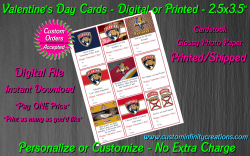 Florida Panthers Digital or Printed Valentines Day Cards 2.5x3.5 Sheet #1