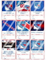New York Rangers Valentines Day Cards Sheet #1 (instant download or printed)