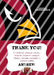 Arizona Cardinals Personalized Thank You Card #1 (digital file you print)