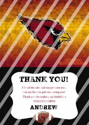 Arizona Cardinals Personalized Thank You Card #12 (digital file you print)