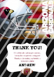 Arizona Cardinals Personalized Thank You Card #13 (digital file you print)