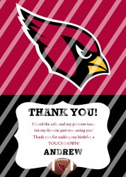 Arizona Cardinals Personalized Thank You Card #17 (digital file you print)