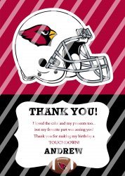 Arizona Cardinals Personalized Thank You Card #18 (digital file you print)