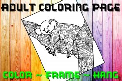 Bear Adult Coloring Page Sheet #2 (instant download or printed)