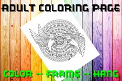 Bird Adult Coloring Page Sheet #2 (digital or shipped)