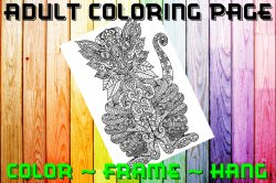 Cat Adult Coloring Page Sheet #5 (digital or shipped)