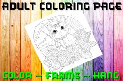 Cat Adult Coloring Page Sheet #11 (digital or shipped)
