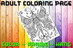 Dragonfly Adult Coloring Page Sheet #1 (digital or shipped)