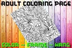 Fish Adult Coloring Page Sheet #2 (digital or shipped)