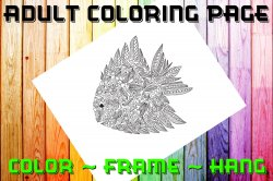 Fish Adult Coloring Page Sheet #11 (digital or shipped)