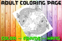 Fish Adult Coloring Page Sheet #12 (digital or shipped)