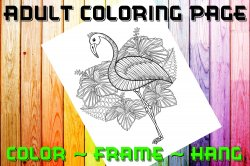 '.Flamingo Coloring Page #1.'