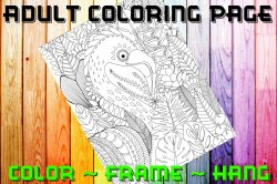 '.Flamingo Coloring Page #2.'