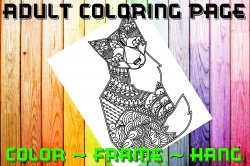 Fox Adult Coloring Page Sheet #1 (digital or shipped)