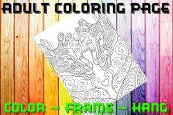 Giraffe Adult Coloring Page Sheet #1 (digital or shipped)