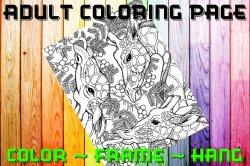 Giraffe Adult Coloring Page Sheet #2 (digital or shipped)