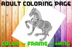 Horse Adult Coloring Page Sheet #2 (digital or shipped)