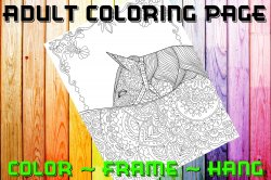 Horse Adult Coloring Page Sheet #8 (digital or shipped)