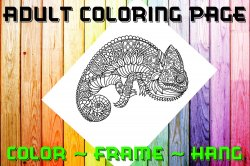 Lizard Adult Coloring Page Sheet #3 (digital or shipped)