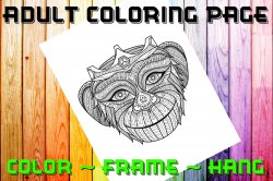 Monkey Adult Coloring Page Sheet #1 (digital or shipped)