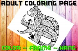 Monkey Adult Coloring Page Sheet #2 (digital or shipped)