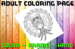 Owl Adult Coloring Page Sheet #10 (digital or shipped)