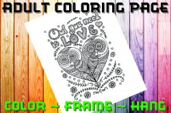Owl Adult Coloring Page Sheet #15 (digital or shipped)