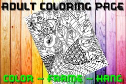Peacock Adult Coloring Page Sheet #2 (digital or shipped)