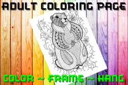Squirrel Adult Coloring Page Sheet #2 (digital or shipped)
