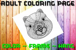 Squirrel Adult Coloring Page Sheet #4 (digital or shipped)
