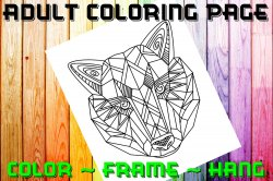 Wolf Adult Coloring Page Sheet #3 (digital or shipped)