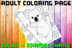 Bear Adult Coloring Page Sheet #8 (digital or shipped)