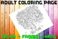 Bird Adult Coloring Page Sheet #4 (digital or shipped)