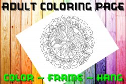 Bird Adult Coloring Page Sheet #7 (digital or shipped)