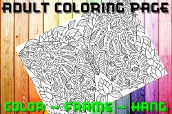 Butterfly Adult Coloring Page Sheet #41 (digital or shipped)