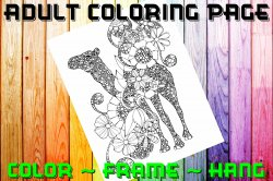 Camel Adult Coloring Page Sheet #1 (digital or shipped)