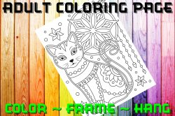 Cat Adult Coloring Page Sheet #13 (digital or shipped)